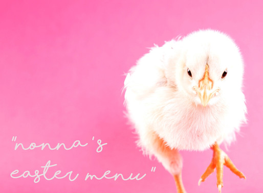 Our Nonnas' Easter Menu for you