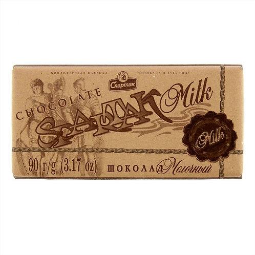 Шоколад молочный 90г