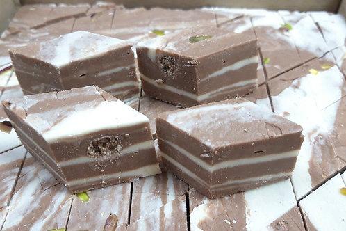 Халва-Щербет шоколадно-молочная с фисташками 500 гр