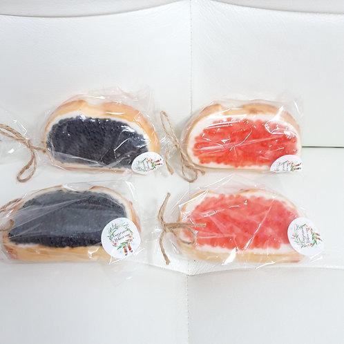 Бутерброды с икрой красной или черной