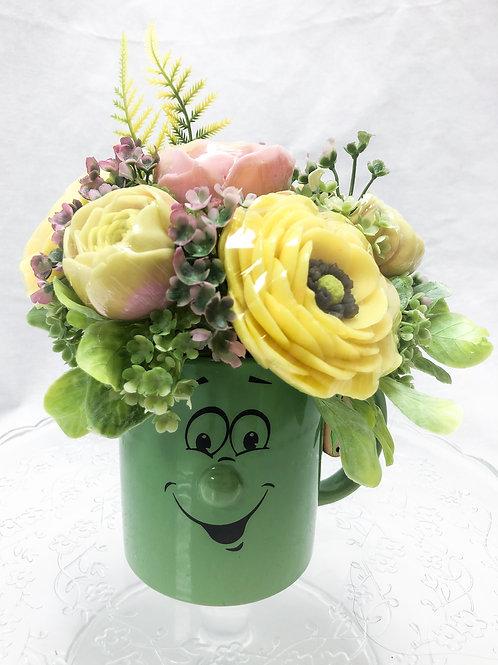 """Ароматный букет """"Желтое настроение"""" в керамической кружке"""