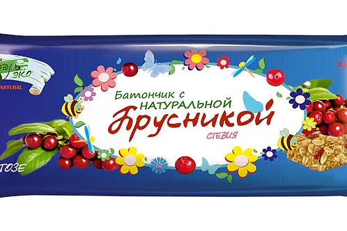 """Батончики-мюсли с натуральными ягодами """"Брусника"""" БЕЗ САХАРА"""