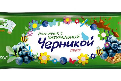 """Батончики-мюсли с натуральными ягодами """"Черника"""" БЕЗ САХАРА"""