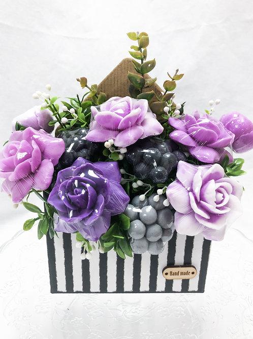 Ароматный букет роз в конверте