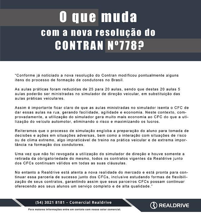 O que muda  com a nova resolução do  Contran Nº778?