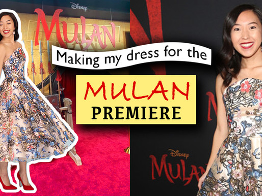 My dress from the Mulan World Premiere