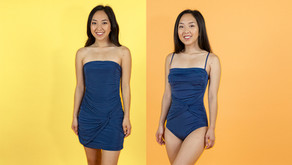 Turning A Dress into A Swimsuit