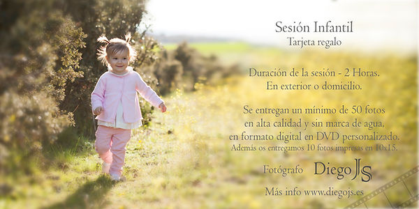 Tarjeta Regalo Sesión Infantil