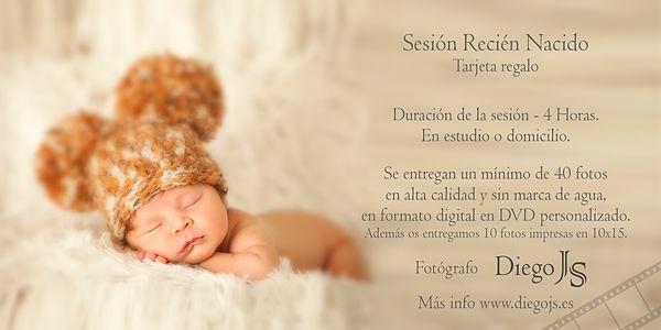 Tarjeta Regalo Sesión Recién Nacido