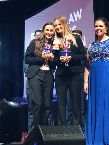Jessica and Abby States Trophy