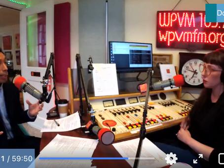 Watch WPVM 103.7 Interview Bo Hess
