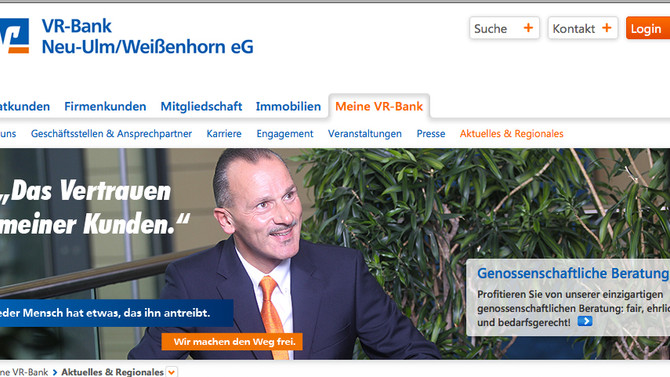 Die VR Bank Neu-Ulm/Weißenhorn eG