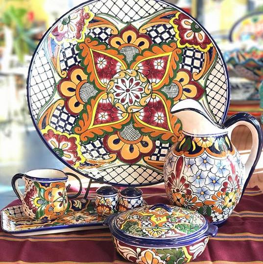 Mexican handmade talavera dishes. ._._._
