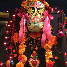 Day of the dead altar by Carol Dembling.
