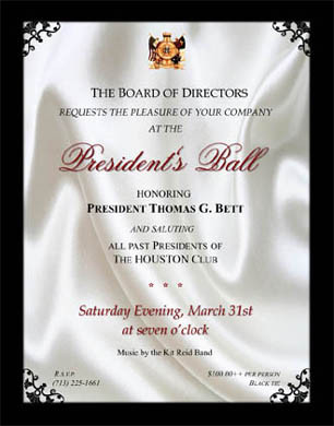 Presidents Balls