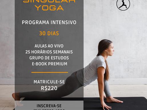 """Curso Intensivo """"30 dias de Yoga"""" (R$220)"""