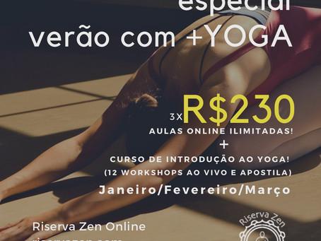 """""""Verão com Yoga"""" aulas de workshops (3x R$230)"""