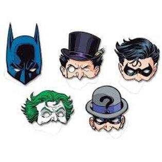 Máscaras Batman 8 unid.