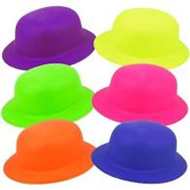 Chapéus Plástico c/Glitter