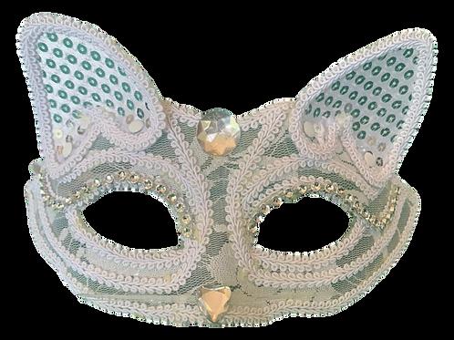 Máscara Branca Gatinha