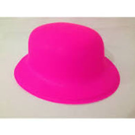 Chapéu Plástico Coquinho Neon Pink