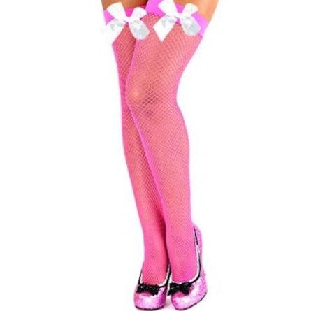 Meia Arrastão 7/8 Rosa Pink