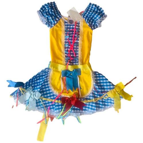 Vestido Inf. Junino Xadrez