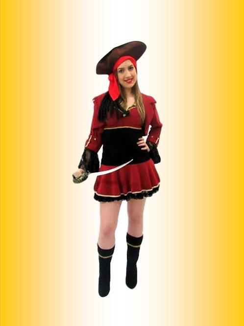 Pirata Vest. Bordô Cód 1514