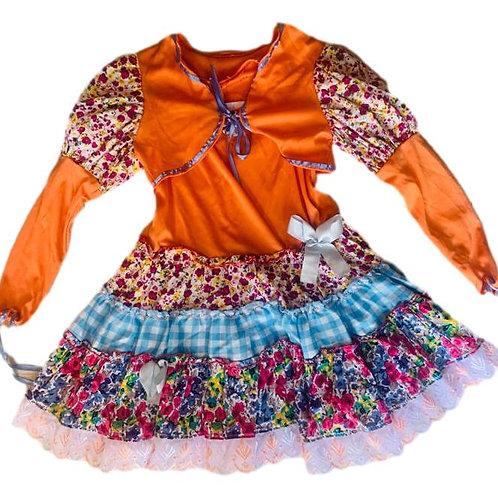 Conjunto Vestido e Bolero Junino Inf.
