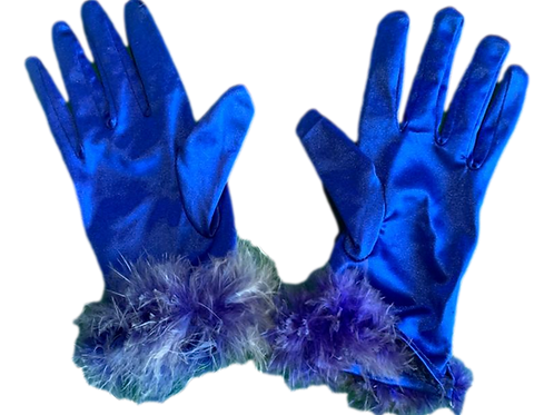Luva Curta Azul