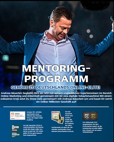 Mentoring Programm mit Andreas Bäuerlein