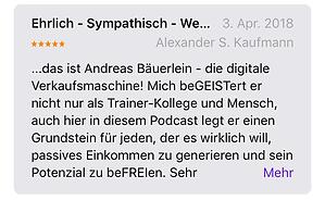 Alexander S. Kaufman ist von Andreas Bäuerlein Strategien begeitert!