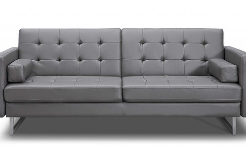 """80"""" X 45"""" X 13"""" Gray Sofa Bed with Stainless Steel Legs"""