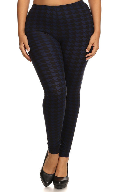 Hounds Tooth Graphic Leggings