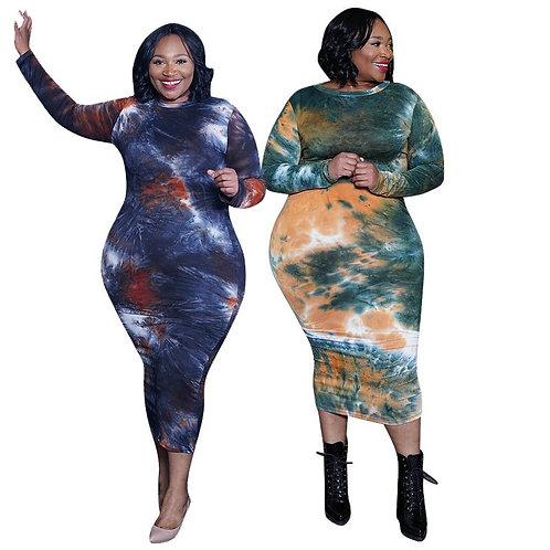 Fall Tie Dye BOD-EY Dress