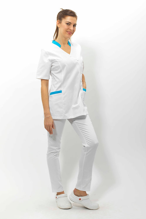 Modèle Alice Blanc/Turquoise