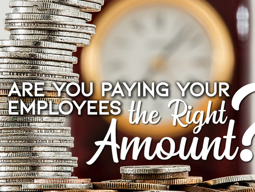 Are you paying your employees the right amount?
