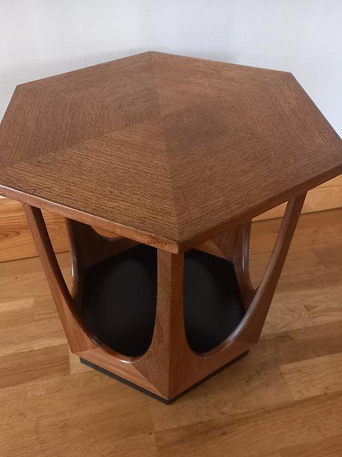 G Plan Teak Hexagonal Side Table