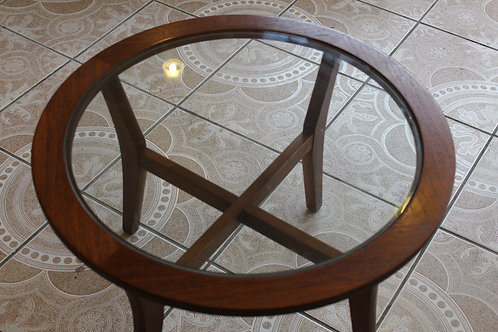 1970s Teak & Glass Coffee Table