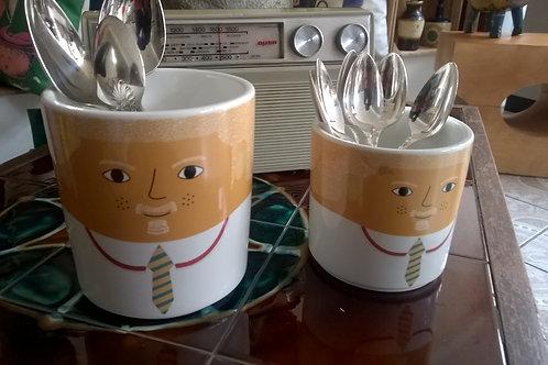 Utensil Ceramic Pots-Stripey Tie