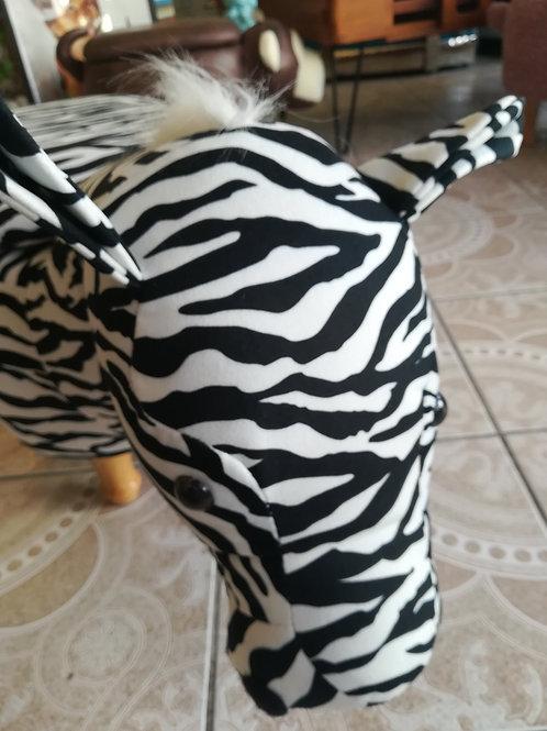 Zebra Ottoman/Footstool