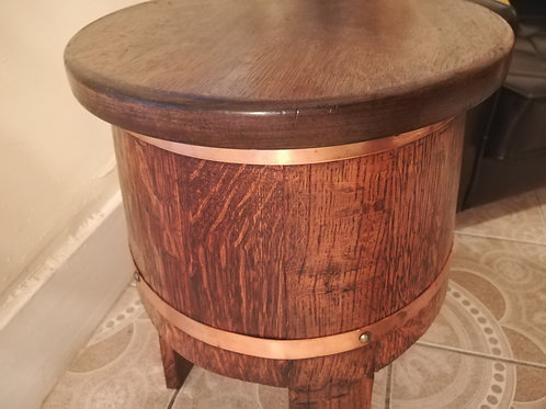 Copper  Barrell Table
