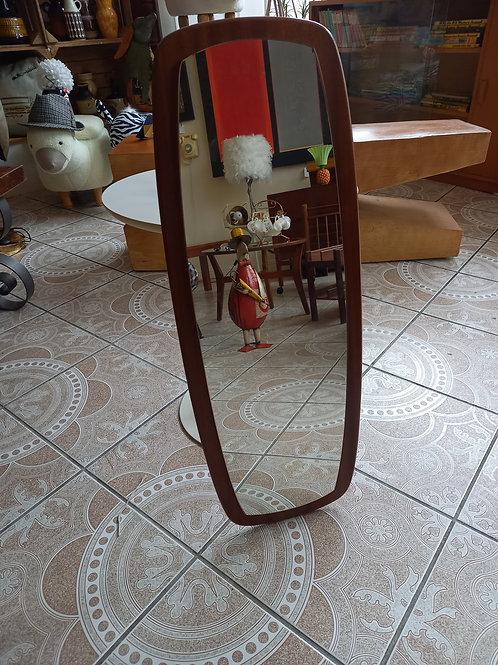 Vintage Oval Teak Mirror- Large