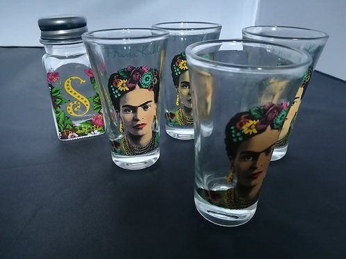 Frida Tequila Slammer Glasses