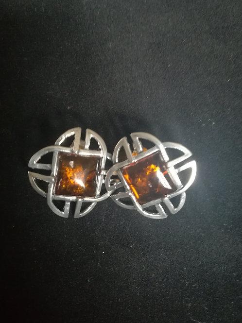 Honey Amber Earrings
