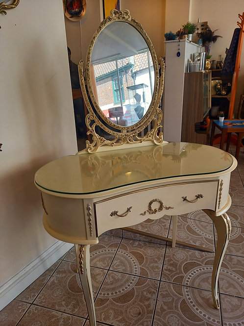 Vintage Louis Style Dressing Table and Mirror