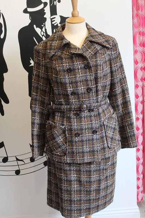 Vintage Ladies Tweed Skirt Suit