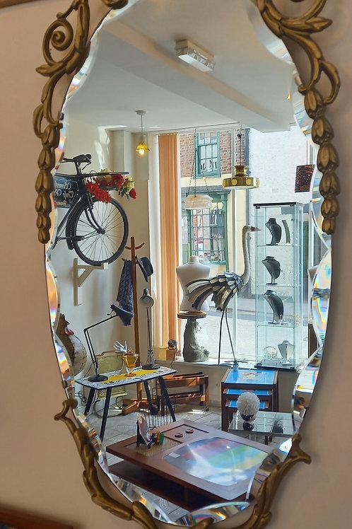 Vintage 1960s  Peerat  Wall Mirror