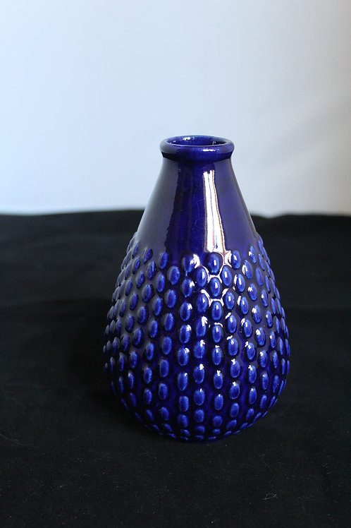 Blue Fruit- West German Vase