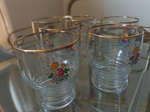 Vintage Flower Drinking Glasses